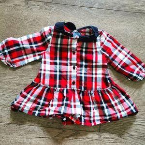 2/$15 Gap baby girl plaid dress 0-3 M